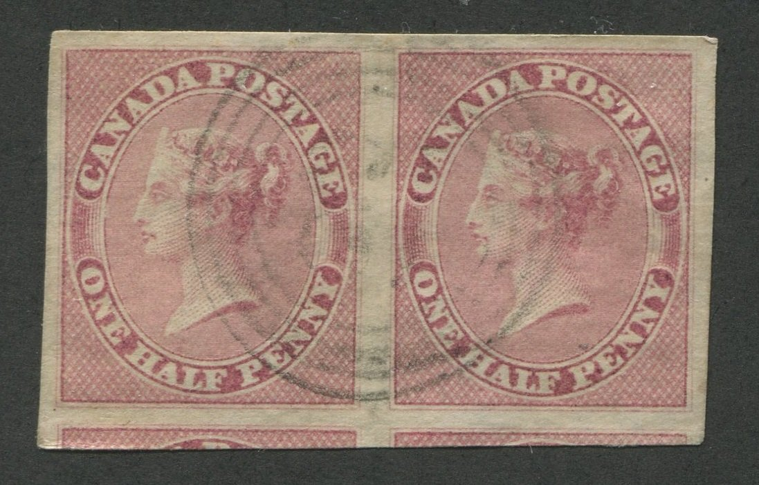 0008CA1708 - Canada #8 - Pair - Deveney Stamps Ltd. Canadian Stamps