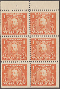 0015FT1708 - FWT7c - Mint Booklet Pane of 6
