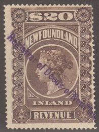 0008NF1708 - NFR8 - Used - Deveney Stamps Ltd. Canadian Stamps