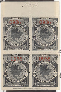 0042TE1707 - TCP 42 - Mint Booklet Pane