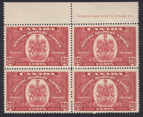 0110CA1807 - Canada E8 - Mint Block of 4