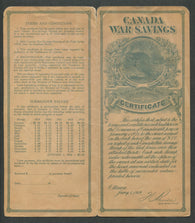 0002WS1708 - FWS2 - Used on War Savings Certificate