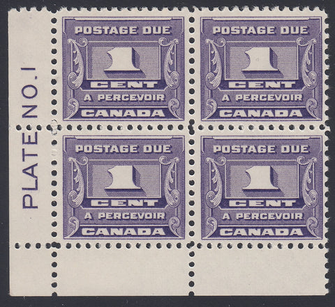 0127CA1805 - Canada J11 - Mint Plate Block of 4