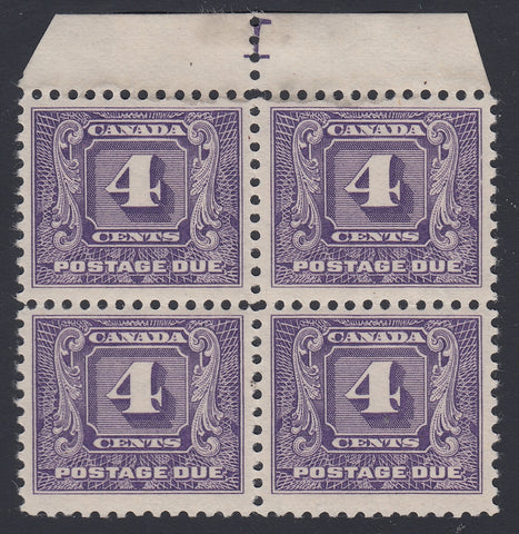 0124CA1805 - Canada J8 - Mint Plate Block of 4