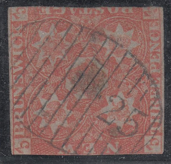 0001NS1708 - New Brunswick #1a - Used - Deveney Stamps Ltd. Canadian Stamps
