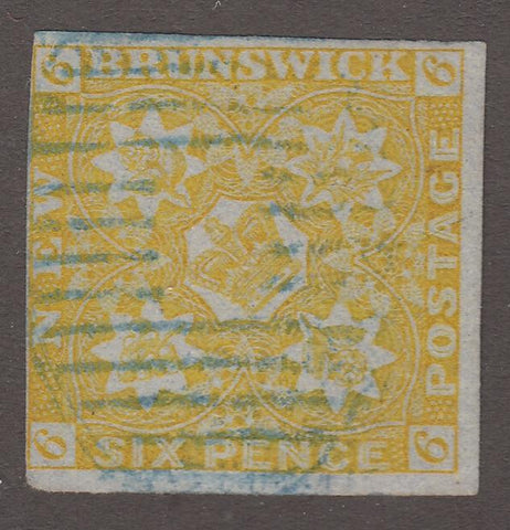 0002NS1708 - New Brunswick #2 - Used - Deveney Stamps Ltd. Canadian Stamps