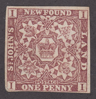 0001NF1711 - Newfoundland #1 - Mint - Deveney Stamps Ltd. Canadian Stamps