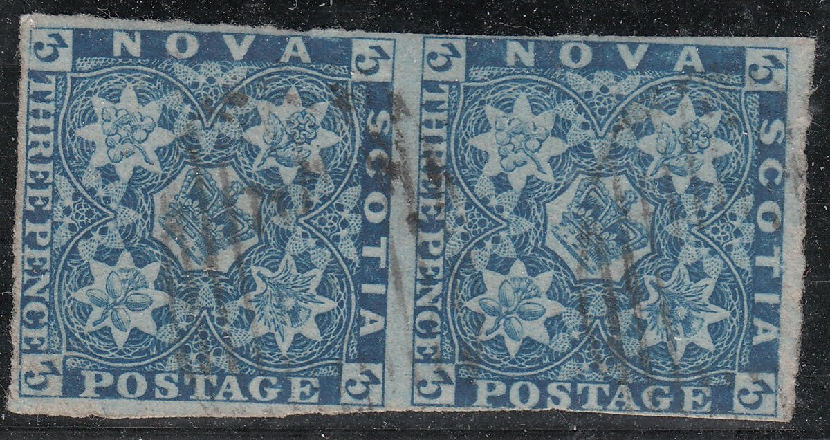 0002NS1708 - Nova Scotia #2 - Used Pair - Deveney Stamps Ltd. Canadian Stamps