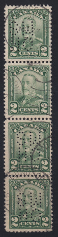 0196CA1804 - Canada OA150 'C Z' - Used Strip of 4