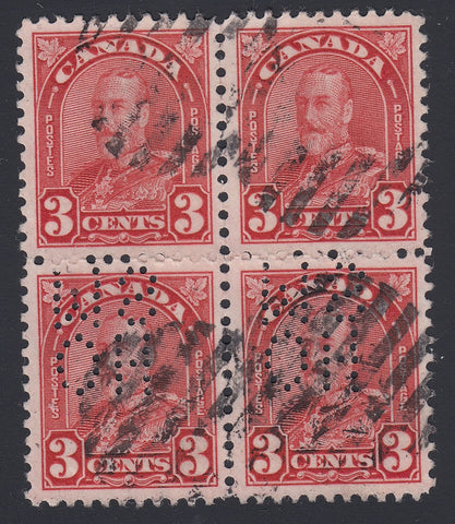 0211CA1804 - Canada OA167 'D Z' - Used Block of 4