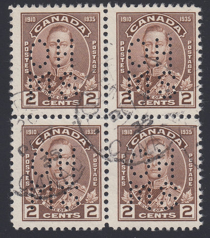 0242CA1804 - Canada OA212s 'A' - Used Block of 4