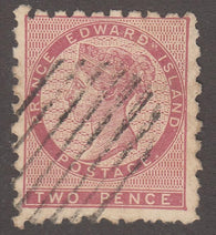 0002PE1708 - Prince Edward Island #1 - Used - Deveney Stamps Ltd. Canadian Stamps