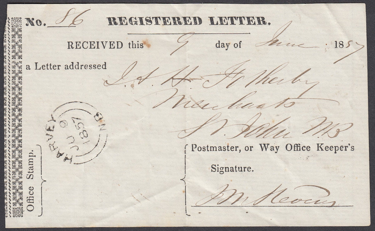 0001NB1807 - Registered Letter Receipt