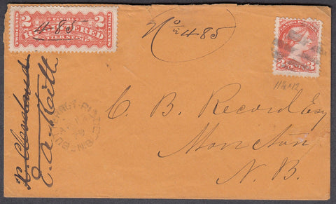 0037NB1807 - #37iii & F1 on 'Butternut Ridge', N.B. Registered Cover