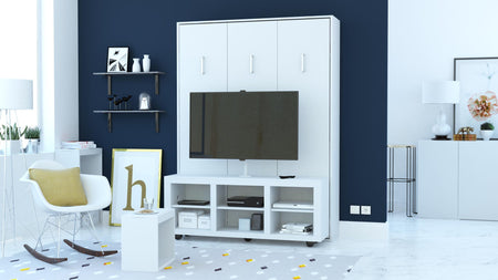 Virgo Queen Portrait Wall Bed with TV Stand