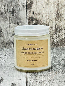 Pistachio Cream - 4oz Votive Glass