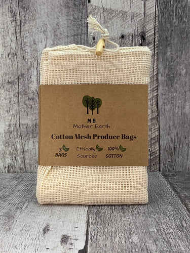Cotton Mesh Shopping / Produce Bags- 3 Pack