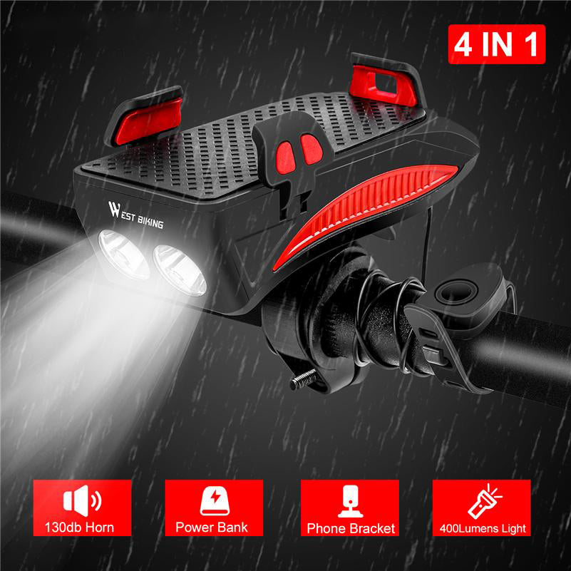 ⭐️  Award Winning Multi-Function Bike Flashlight™️
