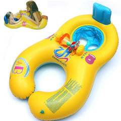 Inflatable double swimming rings