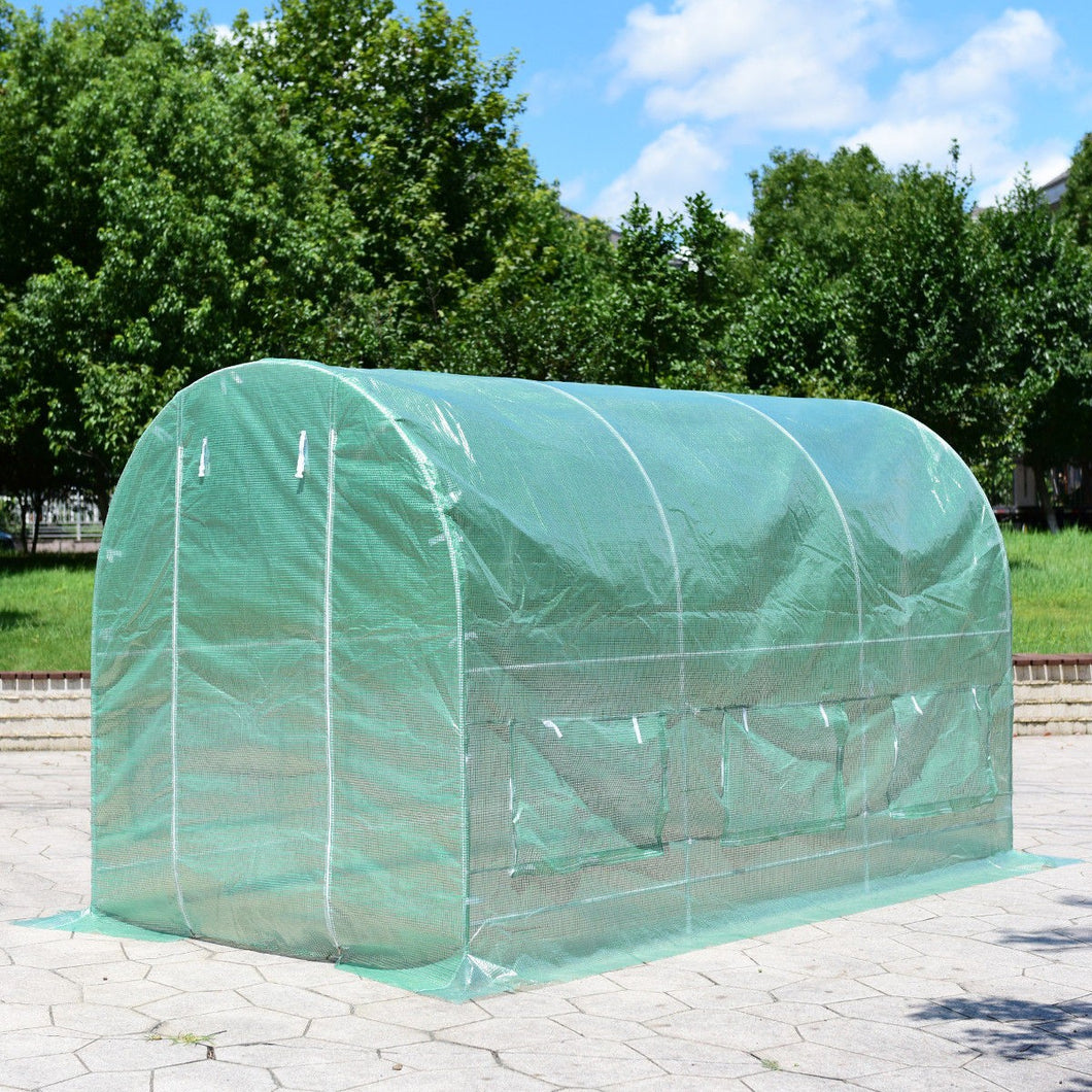 Walk in Greenhouse 11.5'X 6.5'X6.5'  Steel Frame Backyard Grow Tents 6 Windows