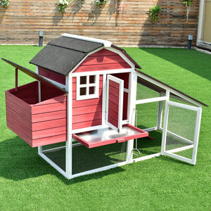 "76"" Deluxe Large Wooden Chicken Coop"
