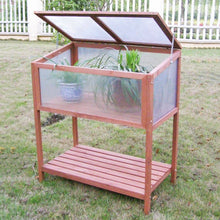 Load image into Gallery viewer, Garden Portable Wooden Cold Frame Greenhouse