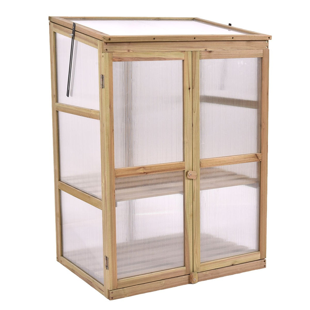 Portable Wooden Raised Greenhouse