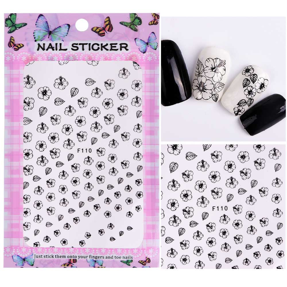 1 Sheet Embossed Blooming Floral 3d Nail Art Stickers Decals Nail