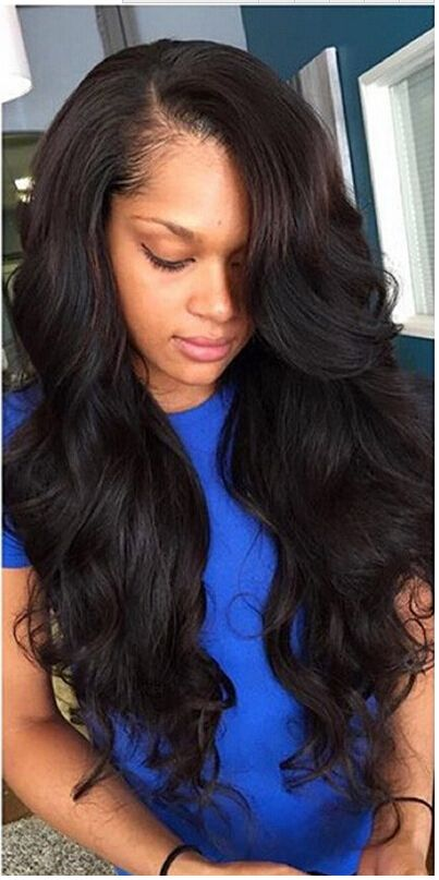 Natural Color Weave Human Hair Bundles With Closure PCT 15% Brazilian Hair