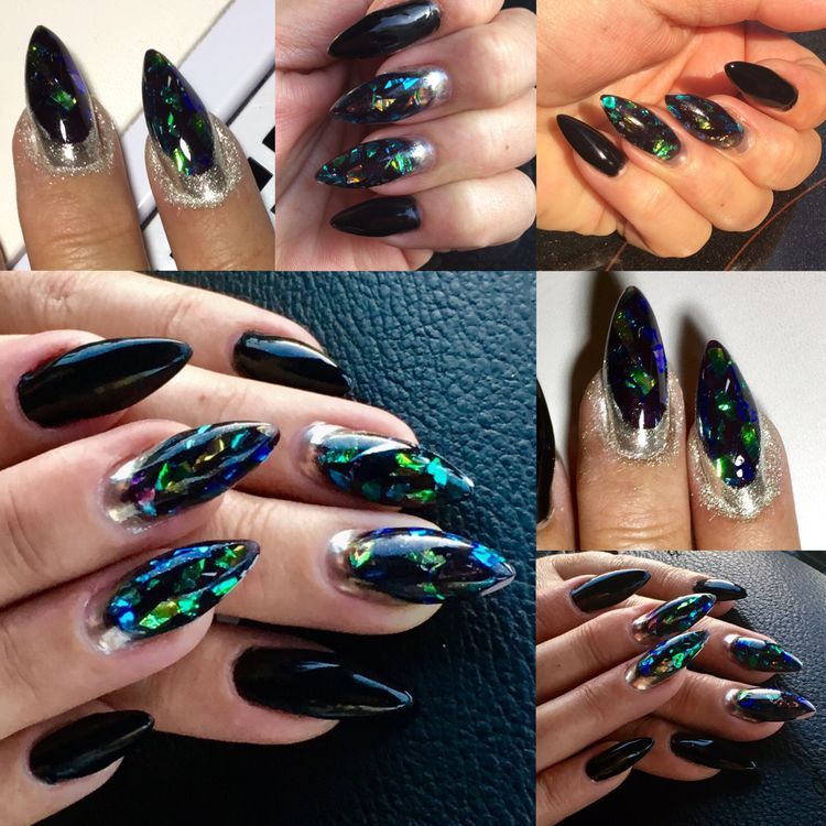 50Pcs Shimmer Starry Nail Foil Colorful Nail Starry Glitter Transfer Sticker