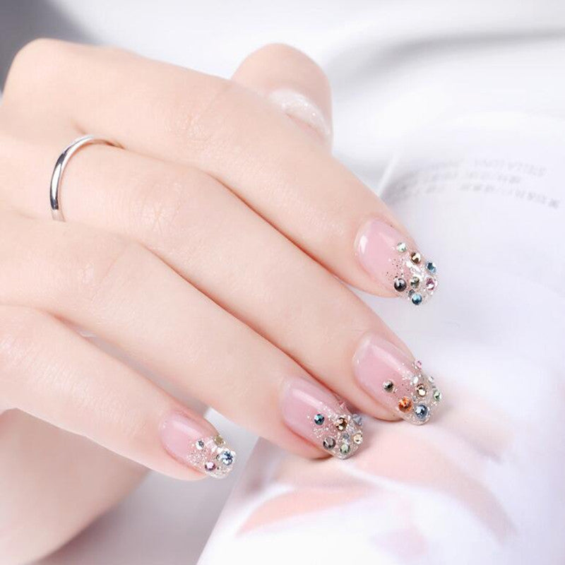 70 Simple Crystal Rhinestone Nail Designs For Summer Winter Fall