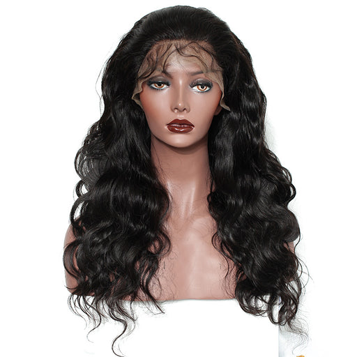 Lace Front Human Hair Wigs Pre Plucked 250% Density Brazilian Lace Frontal Hair Wig Body Wave Bleached Knots