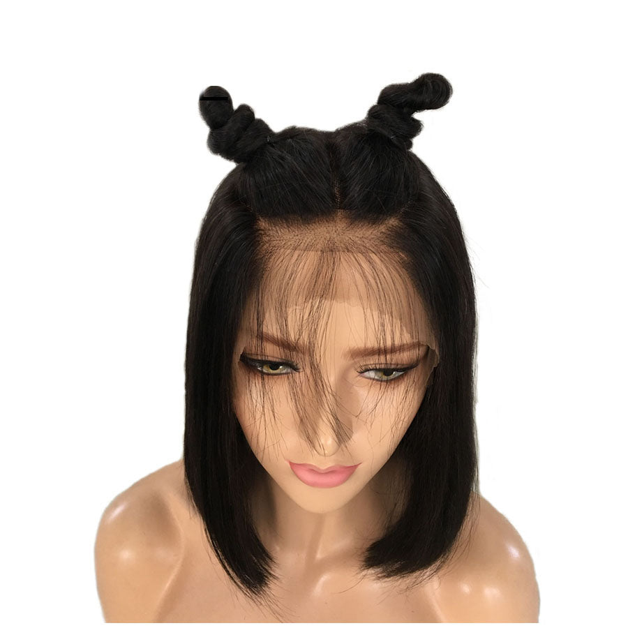 Short Bob Lace Front Wigs With Baby Hair 8-16 Inch Straight Brazilian Remy Hair Wigs