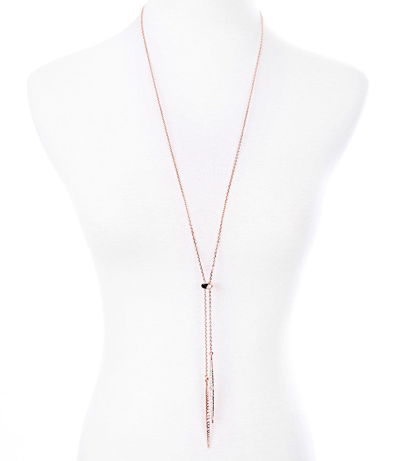 Gold Silver Rose Gold Color Alloy Long Necklace Pendant