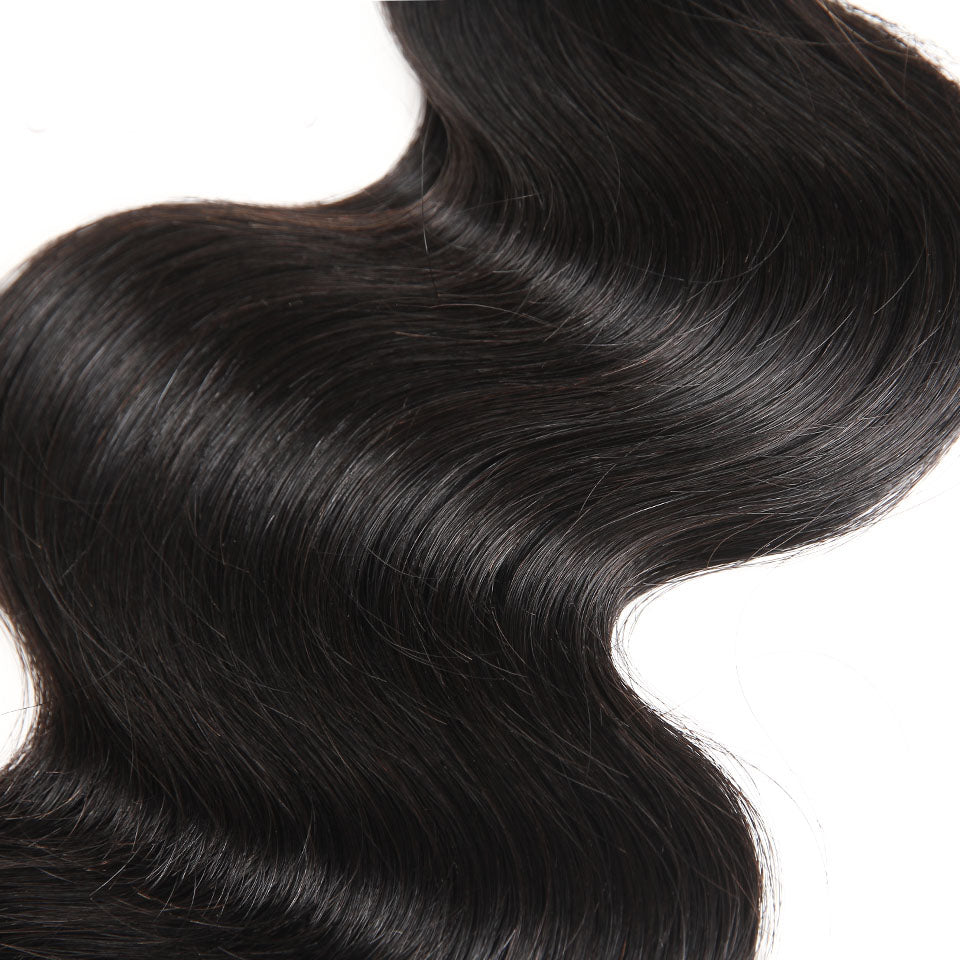 Brazilian Body Wave Hair Extensions 100% Remy Human Hair Weave Bundles Natural Color