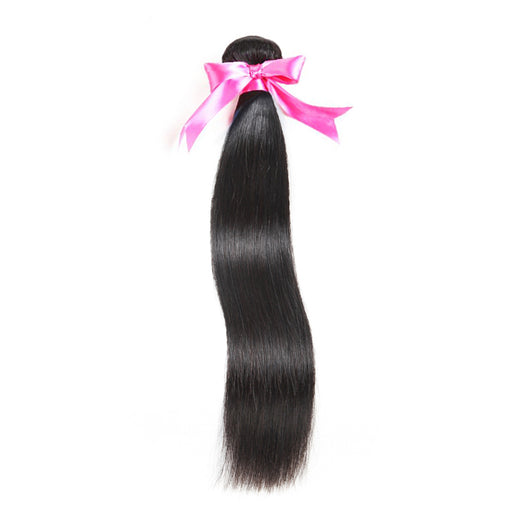 Straight Hair 100% Human Hair Bundles Non-Remy Hair Extension Natural Color
