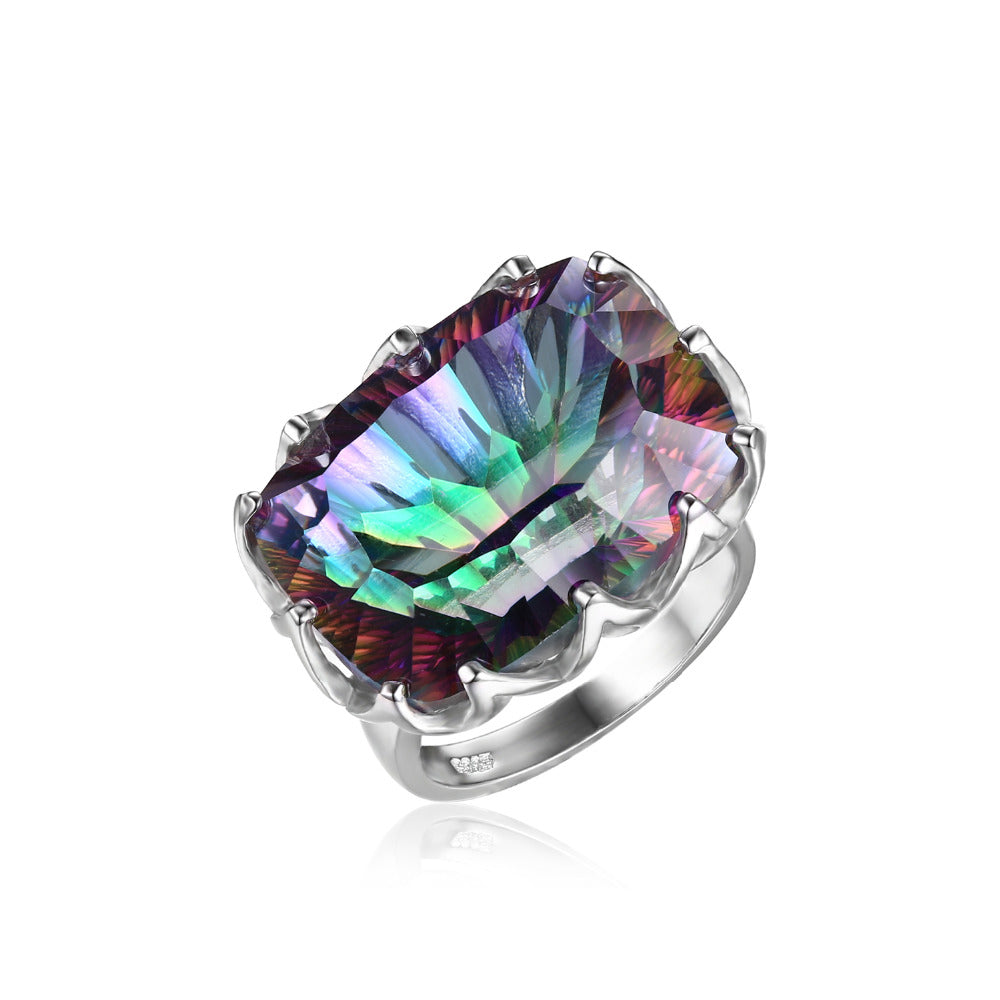 item love szjinao carter mystic topaz for women jewelry victoria fine silver ring sterling rings