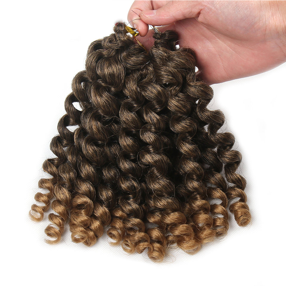 8 Inches Curl Jamaican Bounce Synthetic Braiding Hair Extension For
