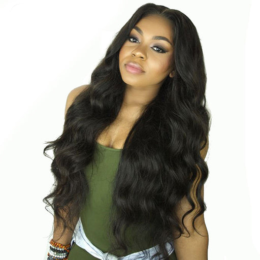 Body Wave Lace Front Human Hair Wigs For Black Women Pre Plucked Brazilian Remy Hair With Baby Hair Bleached Knots