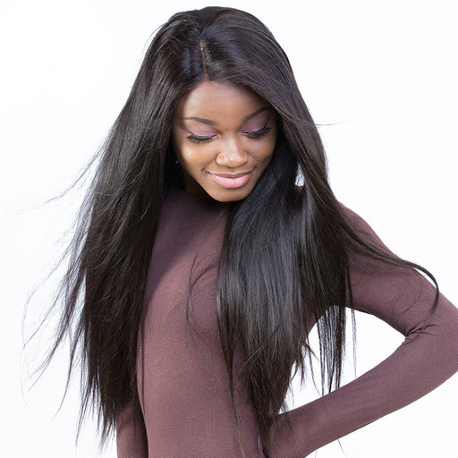 Pre Plucked Full Lace Human Hair Wigs For Women 180% Density Brazilian Straight Lace Wig With Baby Hair