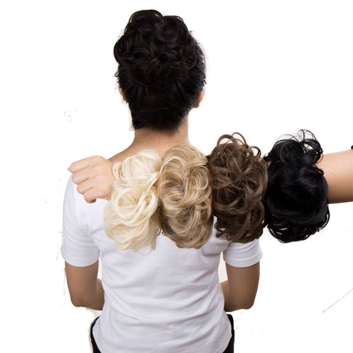 Drawstring Ponytail Synthetic Hair Bun Curly Updo Cover Donut Chignon Hairpieces Black Brown Blonde