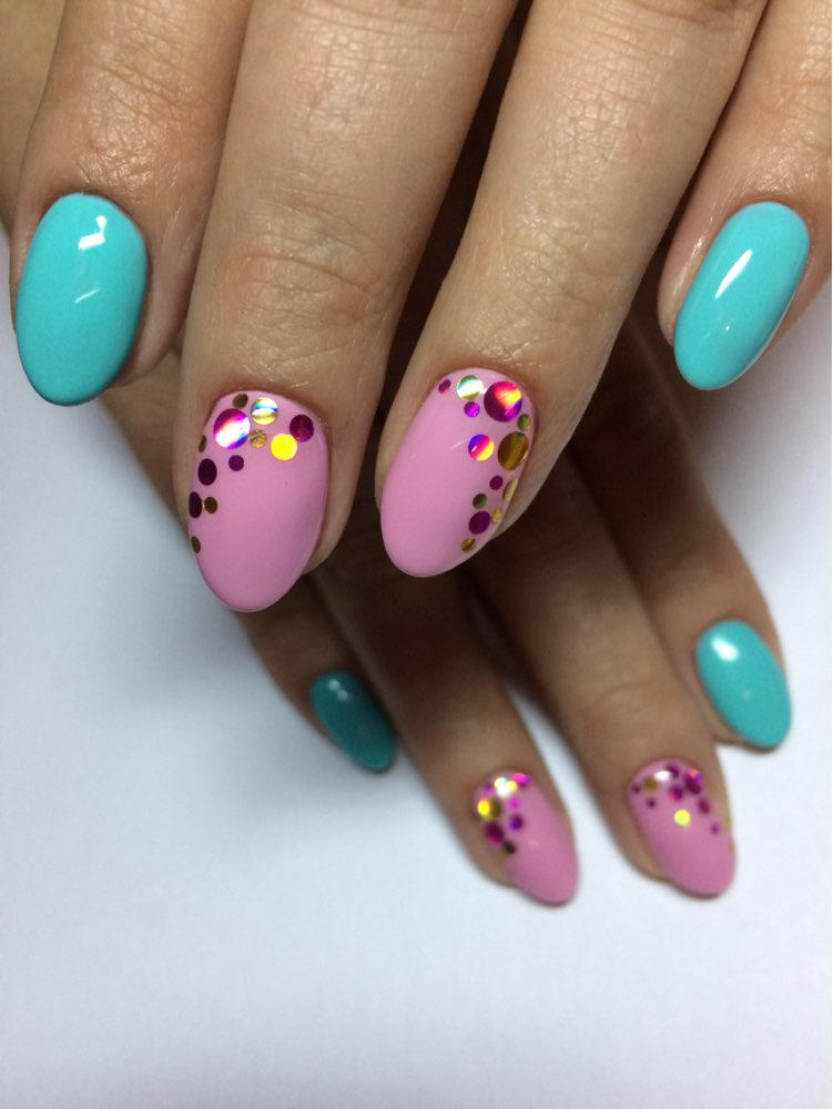 1 Box Shiny Round Ultrathin Sequins Colorful Nail Art Glitter Tips Manicure 3D Nail Decoration