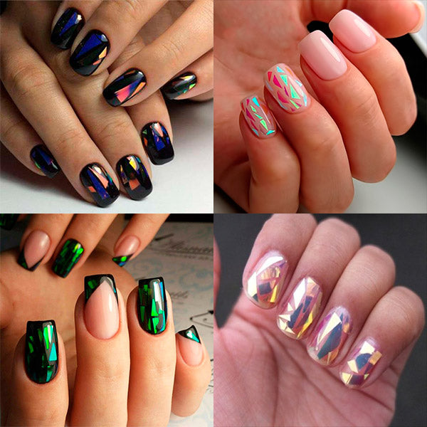 20Pcs/set Nail Art Transfer Stickers Acrylic Coffin Nail Design For Fall Winter Spring Summer