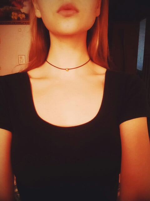 Black Braided Leather Cord Necklace Maxi Statement Necklace Choker Necklace Jewelry