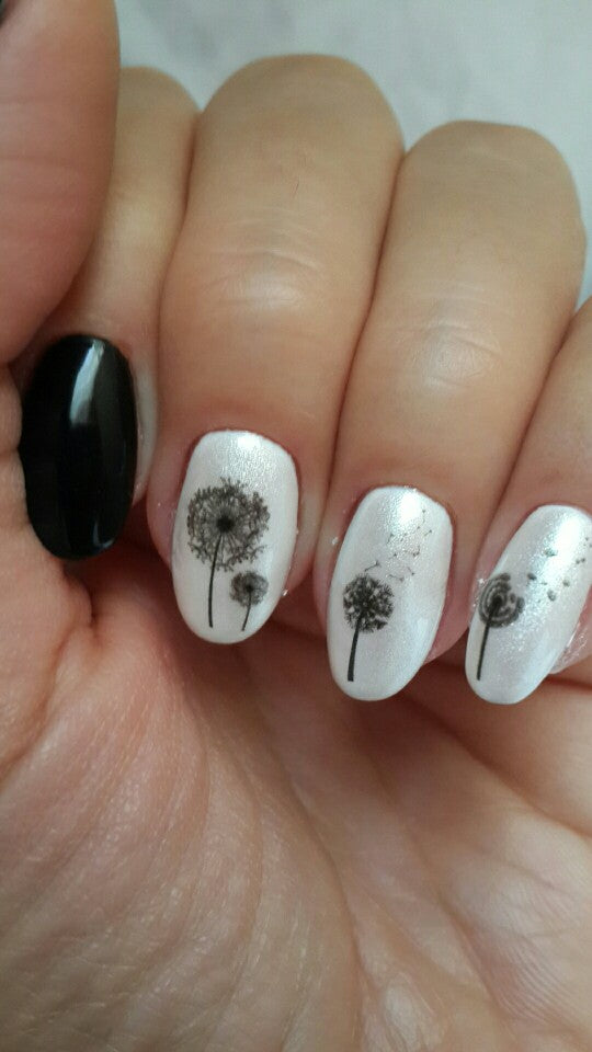 Flying Dandelion Nail Art Water Decals Transfer Sticker