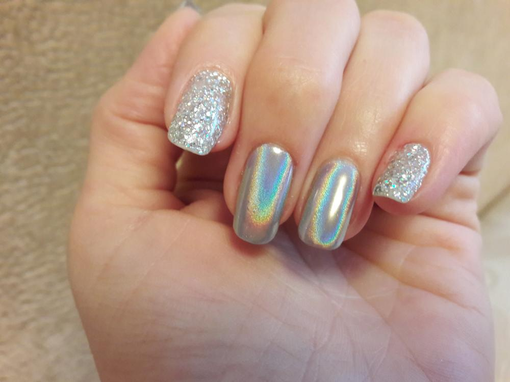 Laser Nail Glitters Acrylic Nail Coffin Nail Design For Fall Summer Spring and Winter