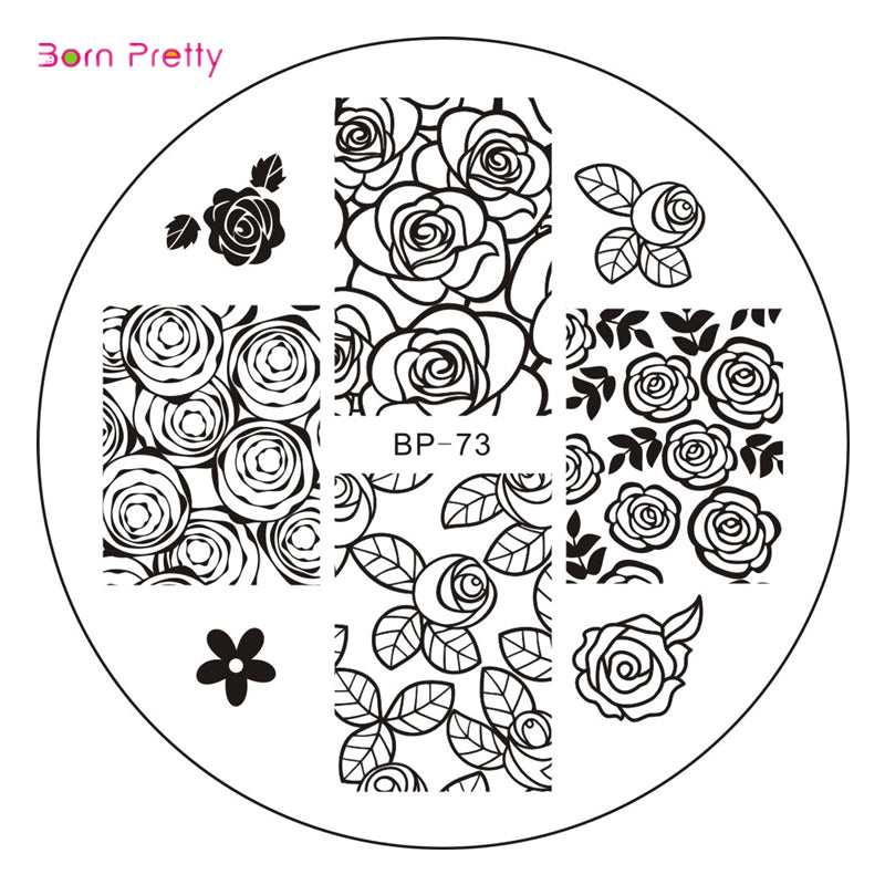 Rose Flower Nail Art Stamp Template Image Plate Nail Stamp Plates