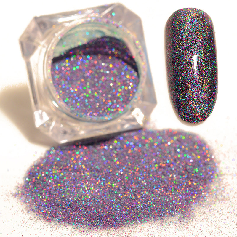 1 Box 1.5g Starry Nail Power 9 Colors Holographic Laser Nail Art ...