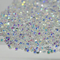 1440pcs/bag 1.3mm Nail Colors Zircon Rhinestones Micro Rhinestones Mini Nail Art Rhinestones Nail Decorations