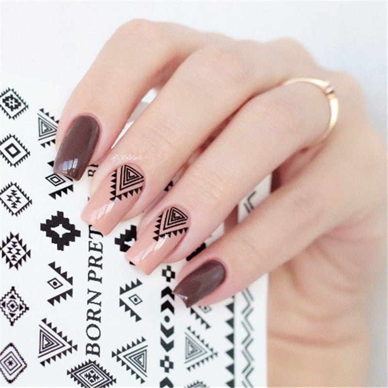 Triangle Diamond Shape Nail Art Water Decals Transfer Sticker ...